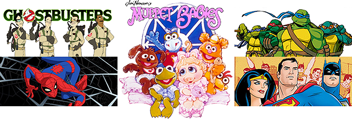 website images (w enlarged Muppet Babies)