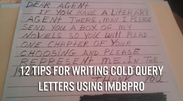12 Tips for Writing Cold Query Letters Using IMDbPro